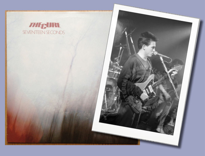 The Cure - Seventeen Seconds Lp + Very Early Vintage Concert Photo: Robert Smith, The Cure, Melkweg 1979