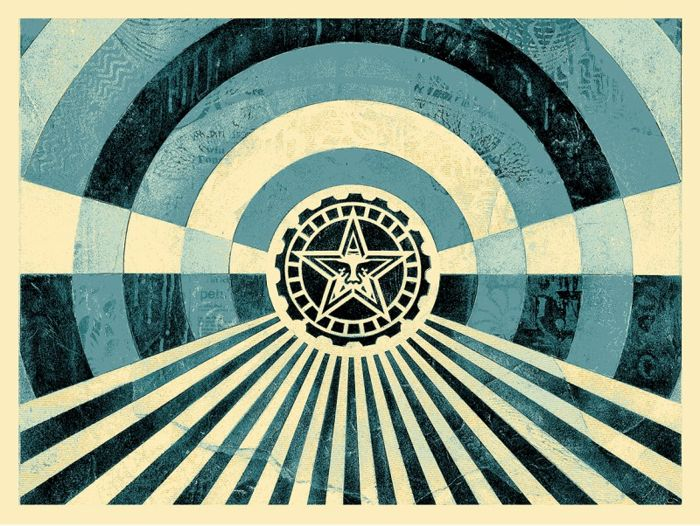 Shepard Fairey (OBEY) - Tunnel Vision Alternative Blue