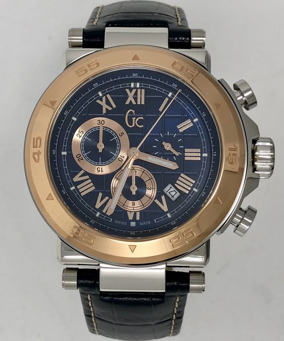 Guess - GC Sport Chic Chronograph Watch Blue Swiss Made - X90015G7S - Férfi - 2011 utáni