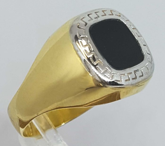 18 kt Gold - Ring Onix