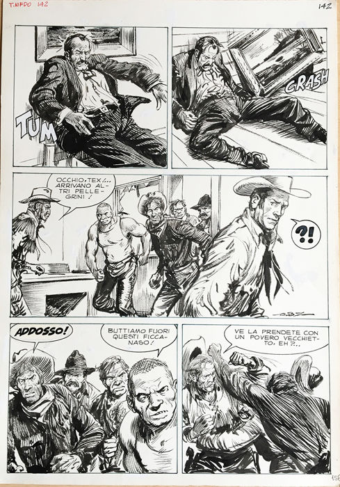 Tex Albo Gigante n. 1 - Guido Buzzelli - original page - Loose page - First edition - (1988)