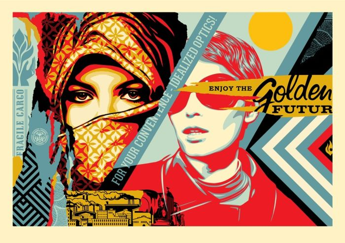 Shepard fairey (OBEY) - Golden Future Large Format - Numbered 58/75