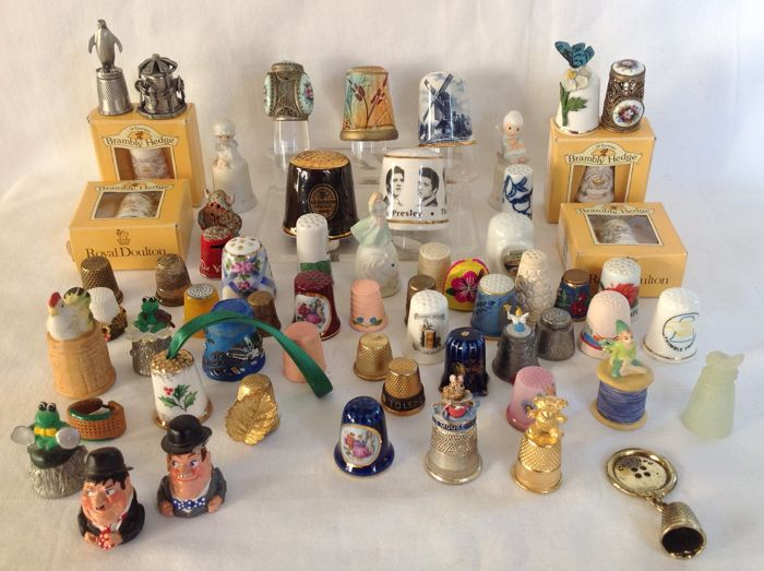 Thimbles - Complete collection of 61 - various materials