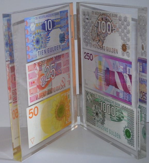 The Netherlands - Nederlandse Bank presentation set - Limited edition 1,000, 250, 100, 50, 25 and 10 guilders - mevius PS1