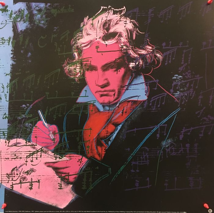 "Andy Warhol - Beethoven ""Red"" - 1992"