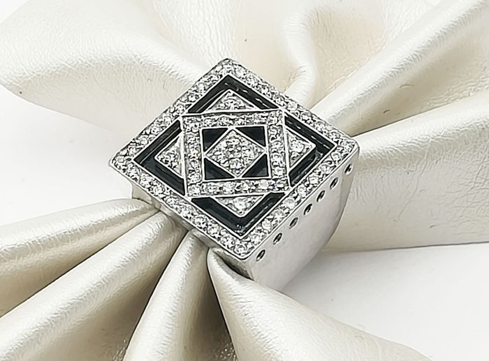 18 carats Or blanc - Bague - 0.32 ct Diamant