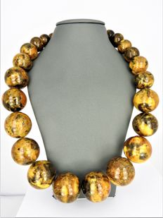 18 carats Ambre, Or - Collier