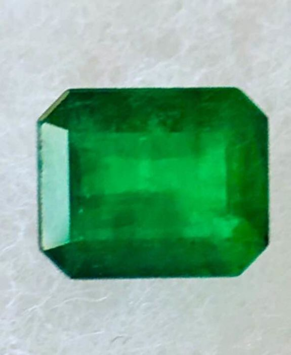 Deep green emerald of 2.13 ct - Low reserve price