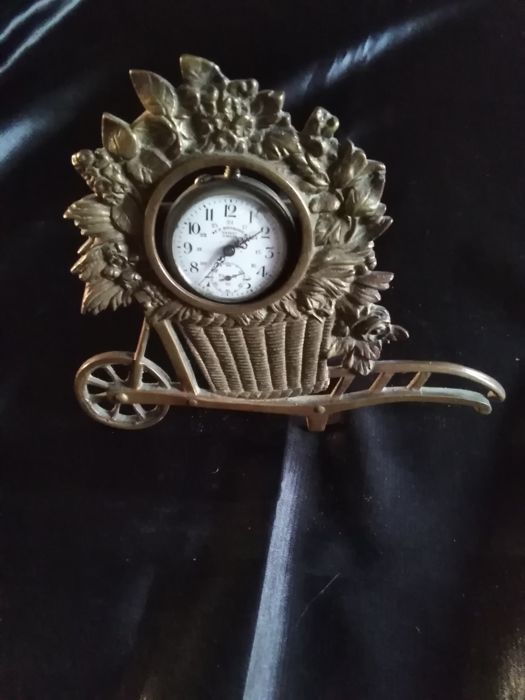 Old collector's pocket watch holder - Bronze