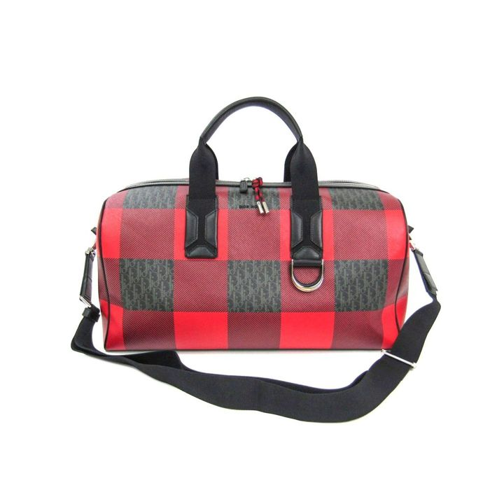 e48376446527 Christian Dior - Dior Homme - Check Pattern Sac de voyage - Catawiki