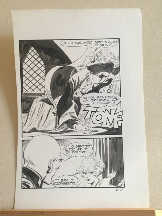 Naga #8 - L. Frollo - original page - Loose page - First edition - (1976)