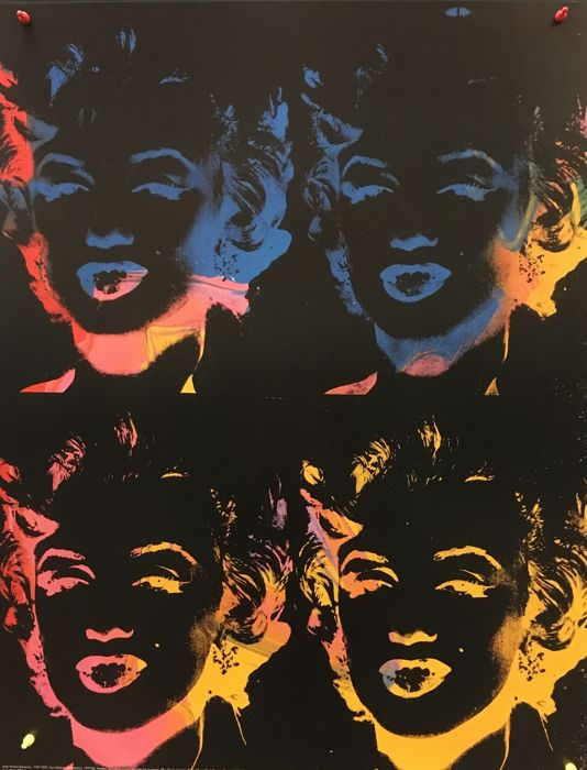 Andy Warhol - Four Multicoloured Marylins 1979/86 - 1993
