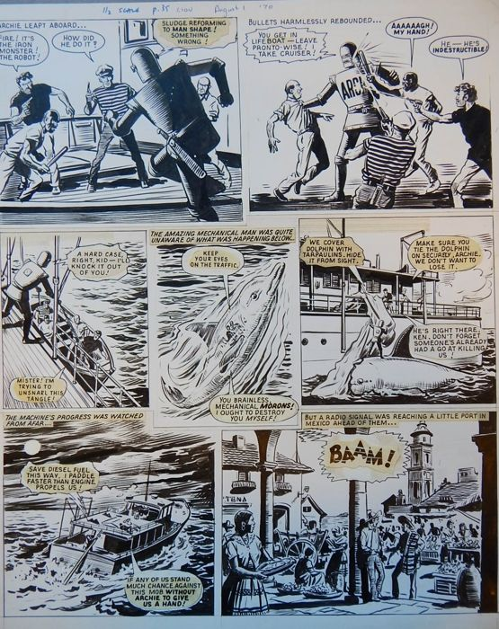 Kearon, Edward  - Originele pagina - Archie, de man van Staal - Golden City - (1970)