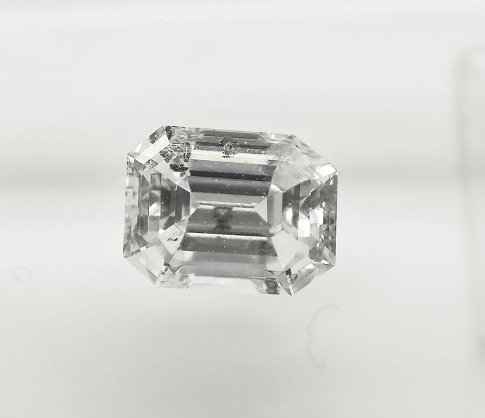 1 pcs Diamond - 1.00 ct - Emerald - D (colourless) - SI3