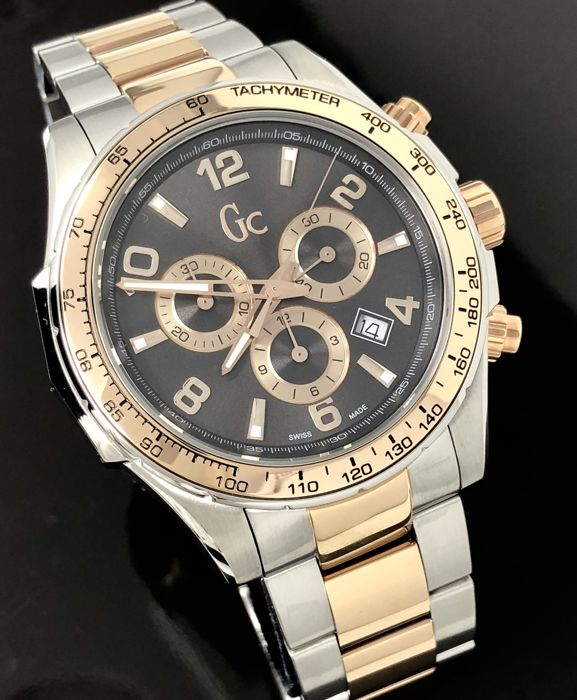 "Guess - CG Chronograph TechnoSport 2 Tone Rose Gold Swiss ""NO RESERVE PRICE"" - X51004G5S - Homme - 2011-aujourd'hui"