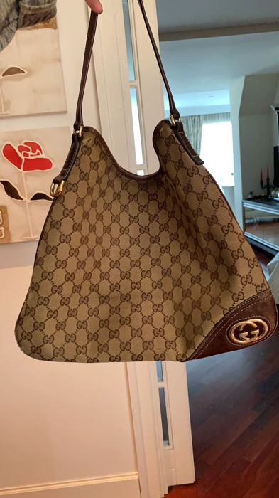 7cafd5507209 Gucci - Canvas Britt GG Canvas Hobo Shoulder bag - Catawiki