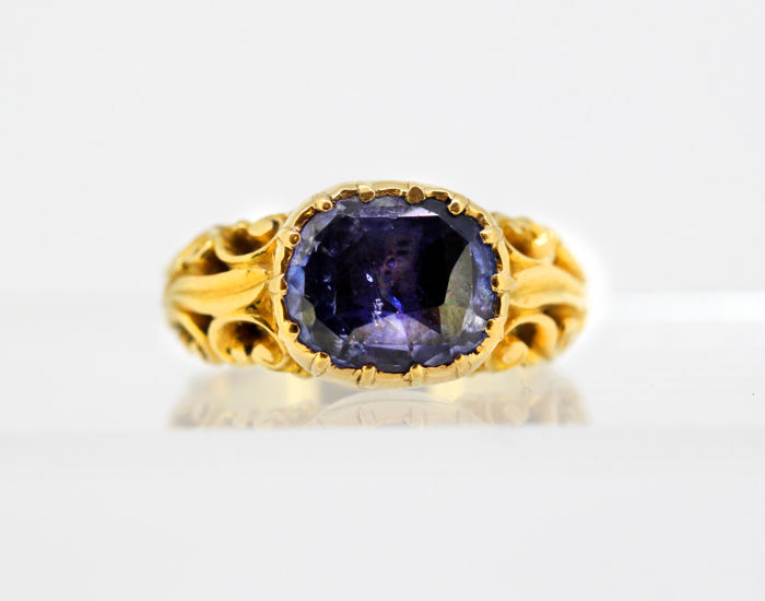 Other - 18 kt. Yellow gold - Ring Sapphire