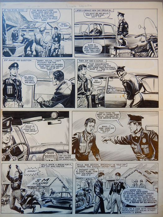 Bunn, Reg - Originele pagina (p.159) - Zip Nolan - On scenario by Jerry Siegel (Superman) - (1963)