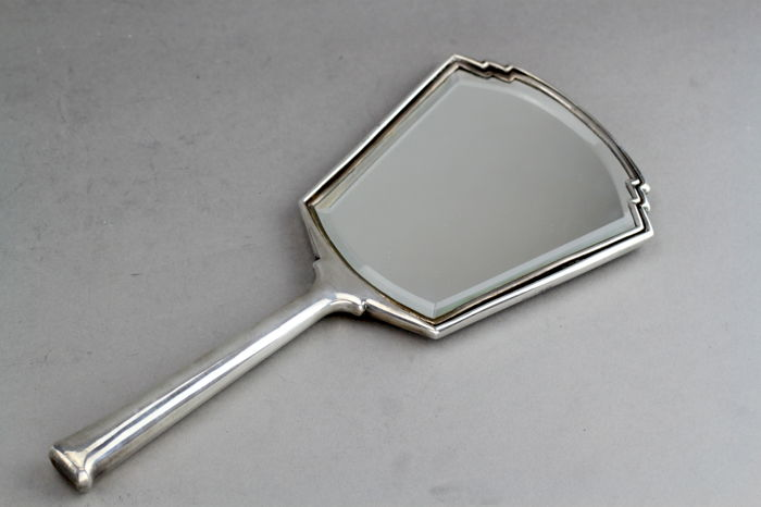 Antique Mirror 925 Silver William Neale Sons Ltd Birmingham