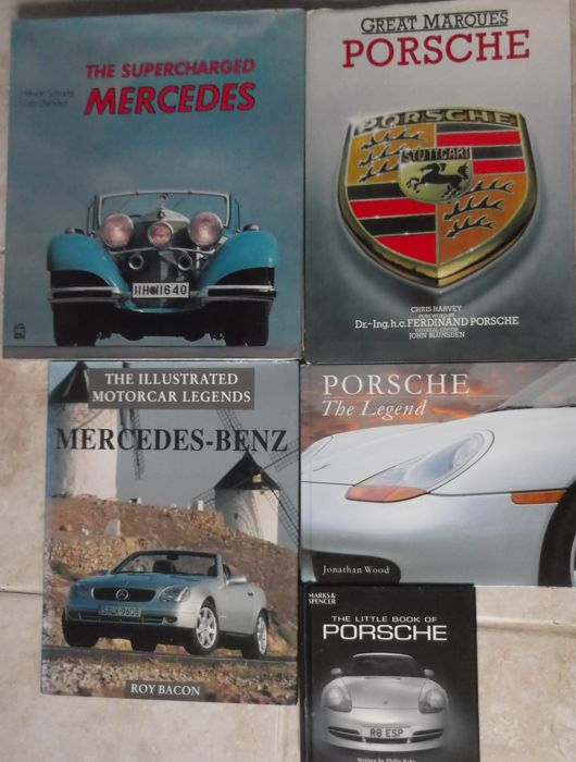 Books - 5 X German classic car books Mercedes Porsche - 1935-2009 (5 items)