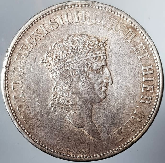 Kingdom of the Two Sicilies - Piastra da 120 Grana 1818 - Ferdinando I (1816-1825) - Silver