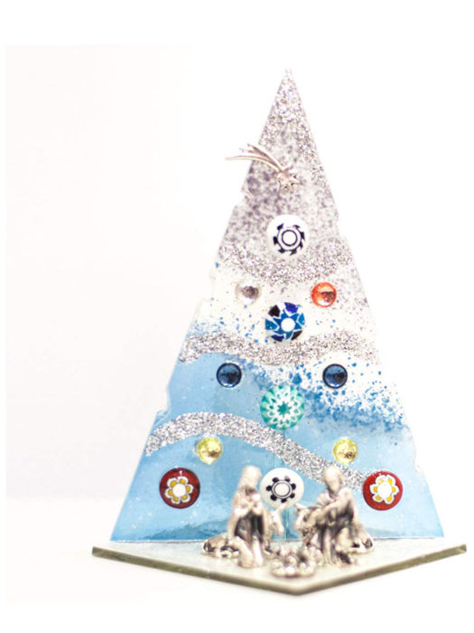 8 X MURANO Christmas trees - 8 - Glass (stained glass)