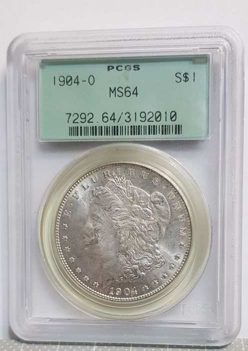USA - Dollar (Morgan) 1904-O in PCGS Slab  - Silver