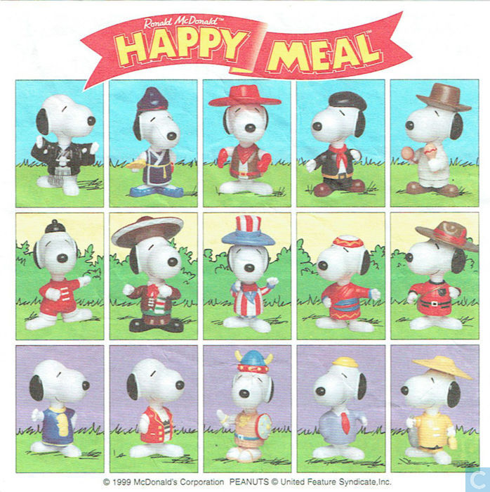 f6cef0b716 ... Happy Meal 1999  Snoopy World Tour Enlarge image Miscellaneous ...