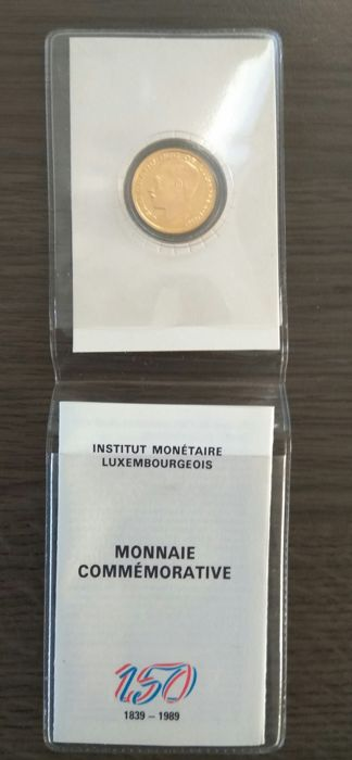 Luxembourg - 20 Frank 1989 Jean Grand Duc de Luxembourg - Gold