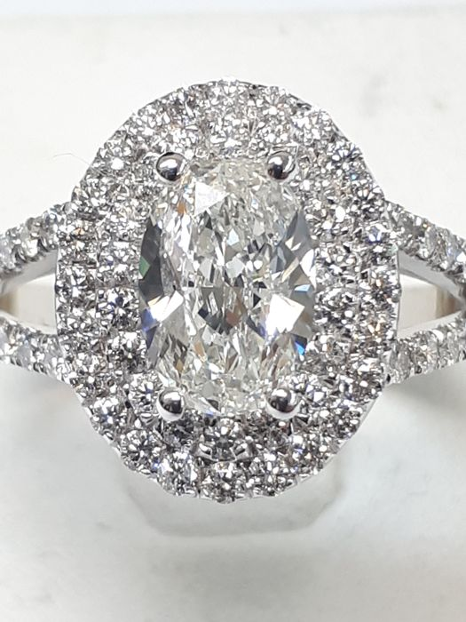 18 kraat Guld - Ring - 1.01 ct Diamant - Diamant
