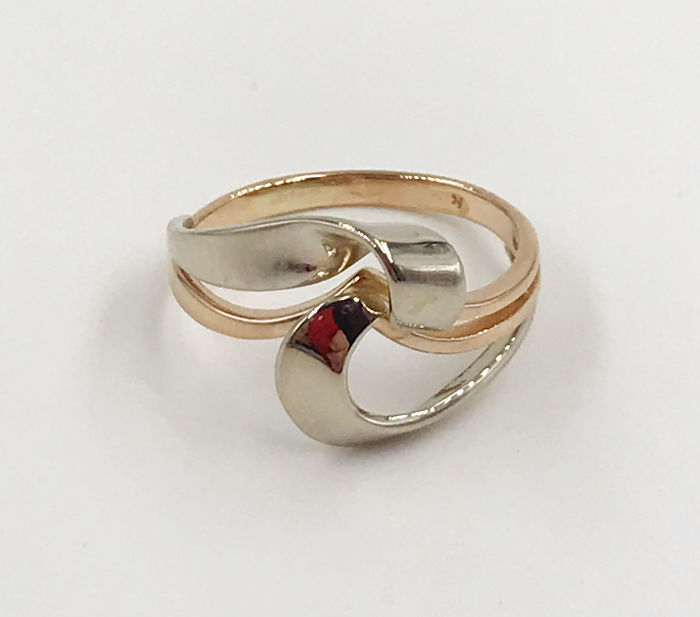 18 kt. Gold, Pink gold, White gold - Ring