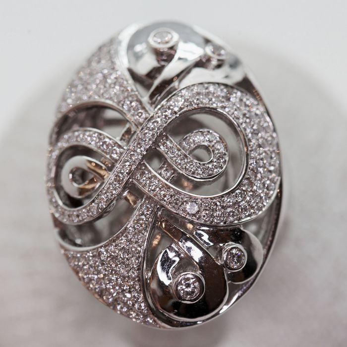 18 quilates Oro - Anillo - Diamante