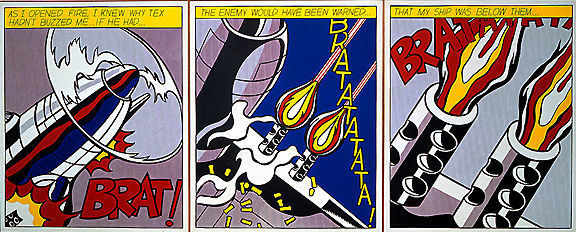 Roy Lichtenstein - As I opened fire (tryptich) - Jaren 1970