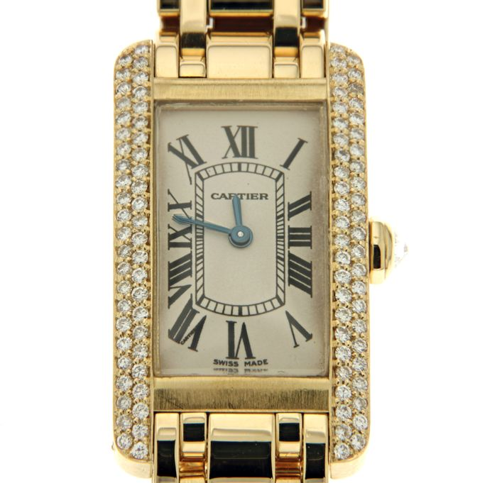 Cartier - Tank Americaine Diamonds - Ref. 1710 - Dames - 2000-2010