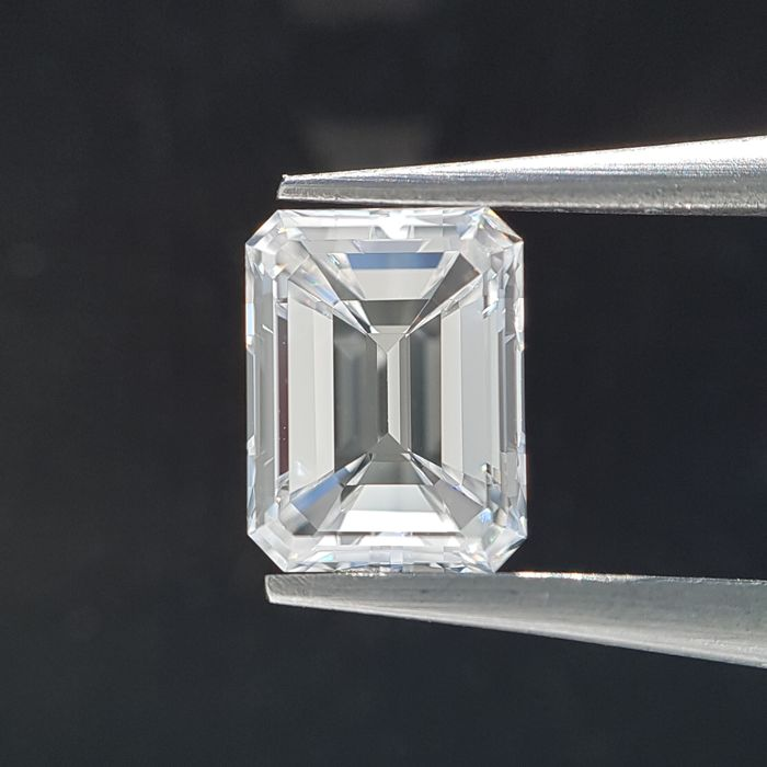 Diamond - 1.01 ct - Smarald - E - VS1 - GIA Full Certified