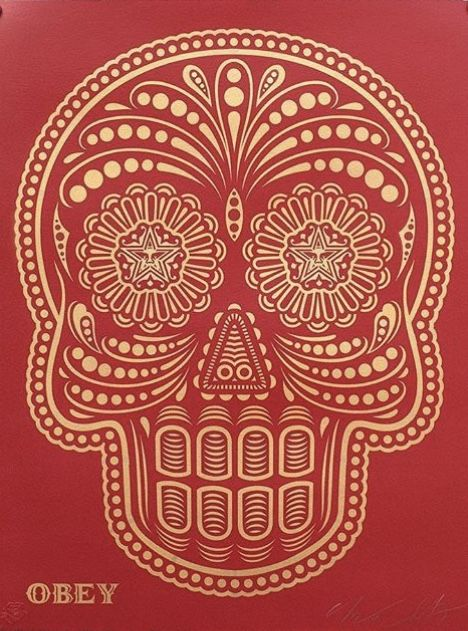 Shepard Fairey (OBEY) & Ernesto Yerena - Day of the dead skull (HMP)