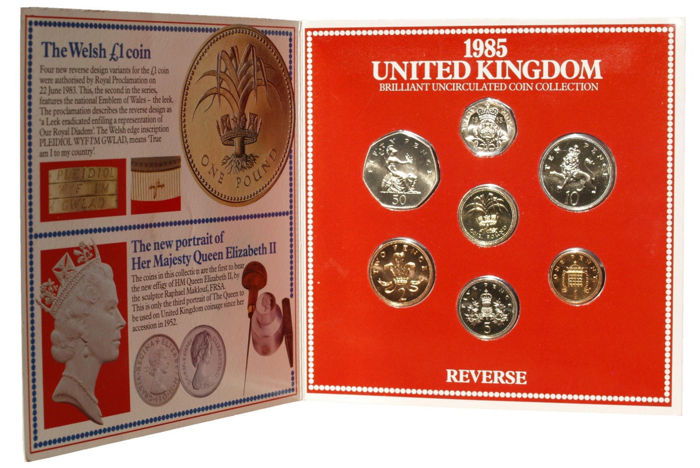 1987 English 1 Pound from The Royal Mint Brilliant Uncirculated w//COA
