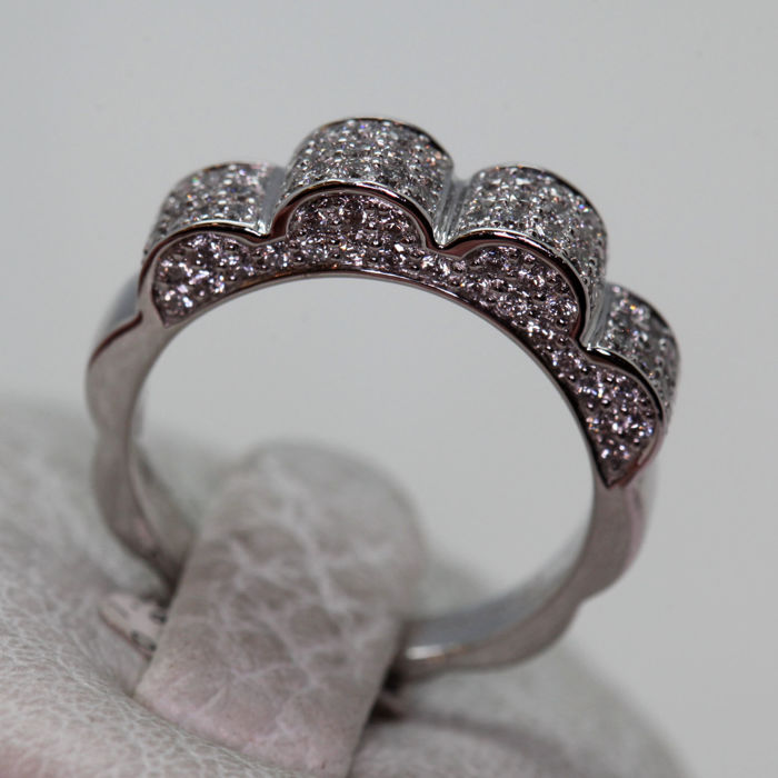 18 carats Or - Bague - Diamant