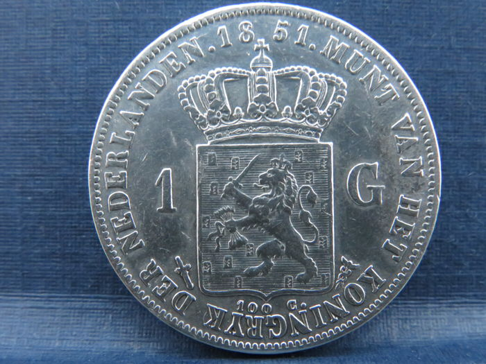 The Netherlands - 1 Gulden 1851 Willem lll - Silver
