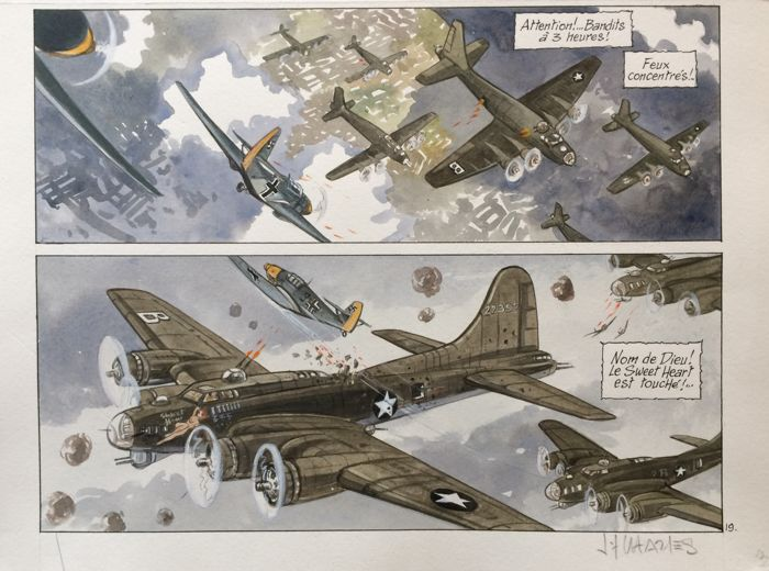 War and Dreams T1 - planche originale acrylic (p.19) - B52 - (2007)