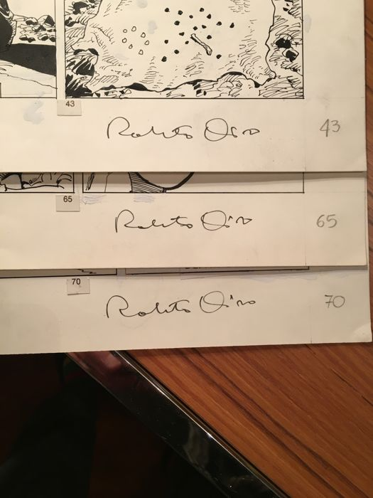 Mister No #178 - R. Diso - 3x original pages  - Loose page - First edition (1990)