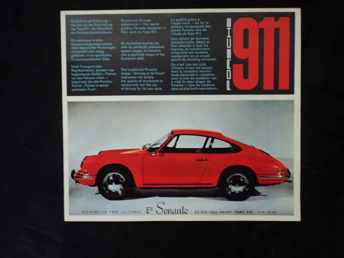 Brochures / Catalogi - Porsche 911 - 1965 (1 items)