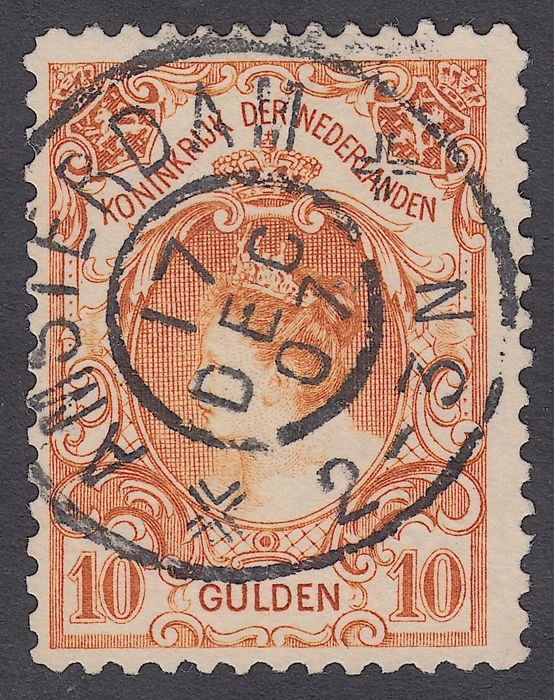 Holland 1905 - Queen Wilhelmina type 'fur collar' - NVPH 80
