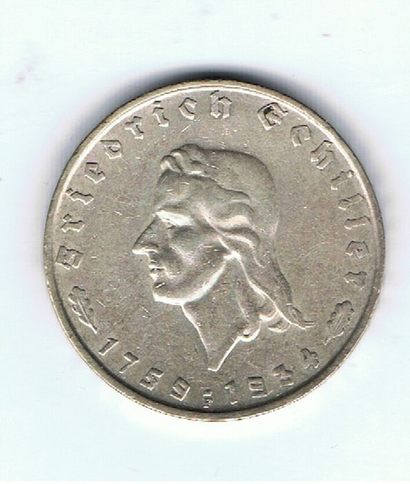 Germany - 2 Mark 1934F - Silver