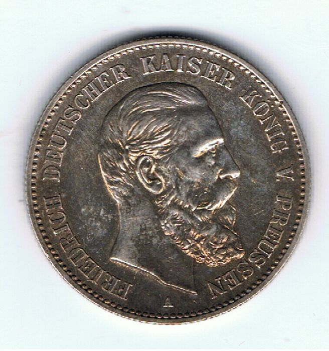 Germany - Prussia - 2 Mark 1888A - Silver