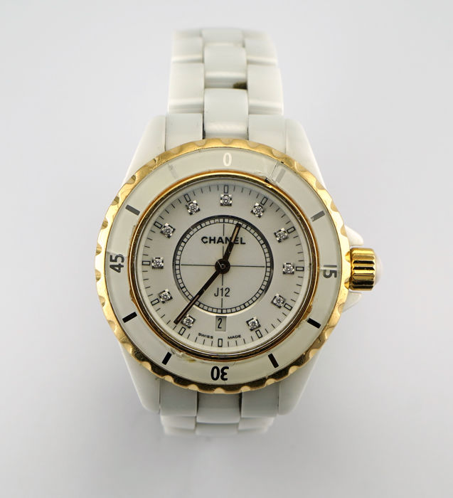 Chanel - Quartz, White Diamond Dial, Rose Gold Bezel - Whit - H2181 - 中性 - 2000-2010