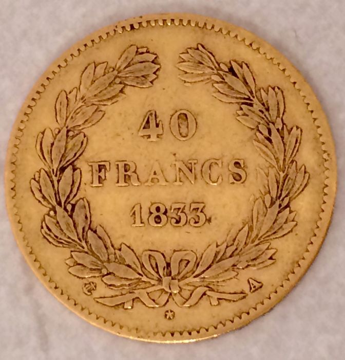 40 Francs 1833-A Louis Philippe I - Or