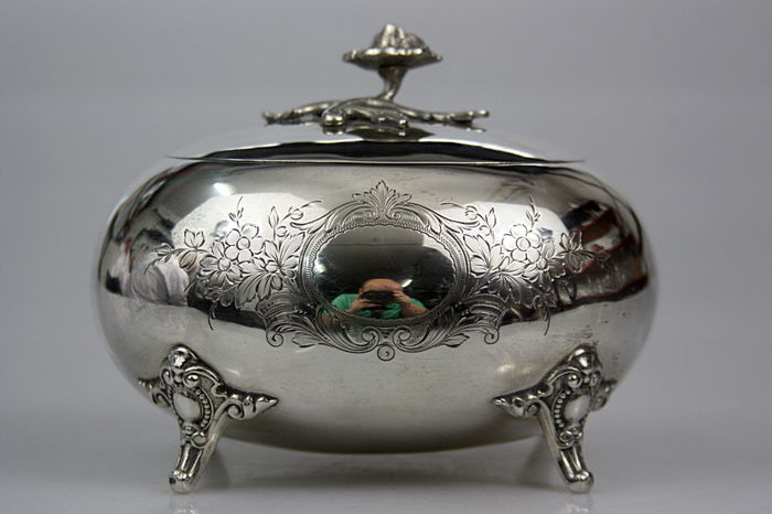 Silver sugar bowl - .800 silver - Germany - 1900-1949 Silver & Gold International Silver for sale