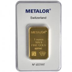 1 ounce (31.1 g) - Gold .999 - Metalor - Seal