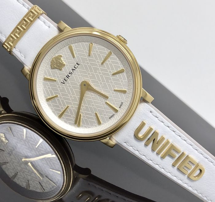 "Versace - White IP Gold Manifesto Unified extra strap Swiss Made  - VBP100017 ""NO RESERVE PRICE"" - Women - 2011-present"